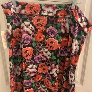 LulaRoe Floral skirt!